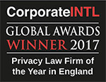 Corporate INTL Global Awards Winner 2017 - Privacy Law Firm of the Year in England