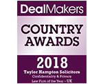 DealMakers Country Awards 2018 - Taylor Hampton Solicitors - Confidentiality and Privacy Law Firm of the Year - UK
