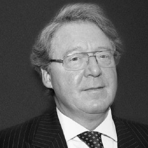 This is a black and white photo of Harvey Starte a defamation expert with Taylor Hampton Solicitors