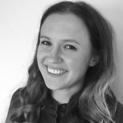 This is a black and white photo of trainee lawyer Grace Verity