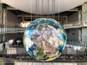 This is a photo of a globe representing global talent