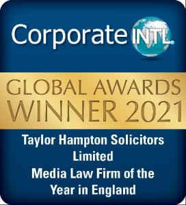 Badge Award for Taylor Hampton Solicitors Corporate International