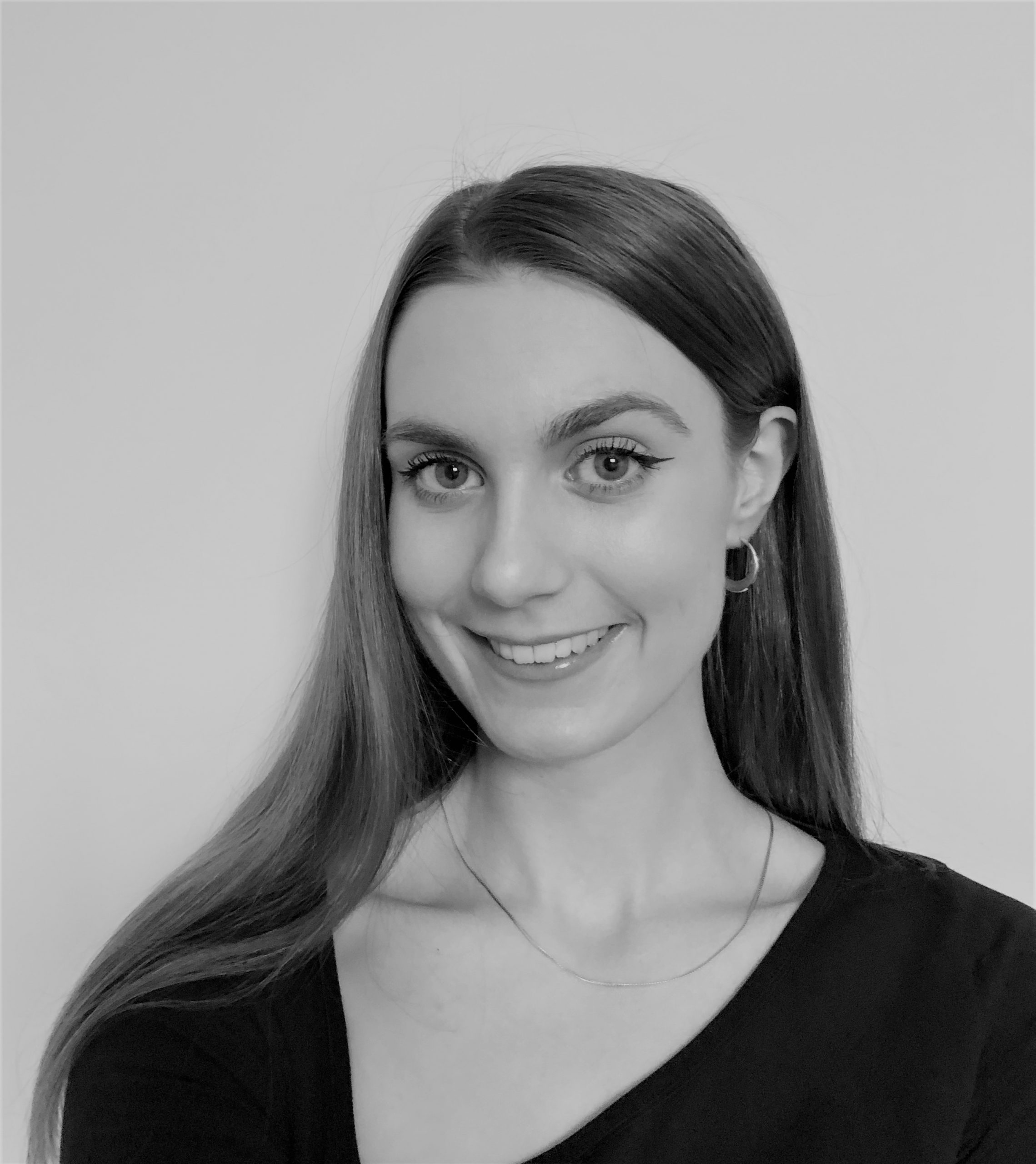 Black and white photo of Emily Butchers Paralegal with Taylor Hampton Solicitors
