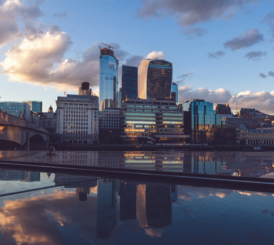 photo of London skyline with river Thames